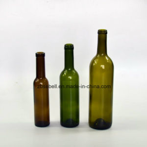 Green, Clear Bordeaux Wine Bottle with 200ml, 3750ml, 500ml, 750ml pictures & photos