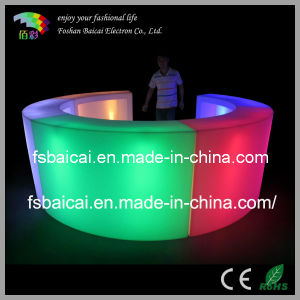 PE Plastic LED Lighting Bar Counter