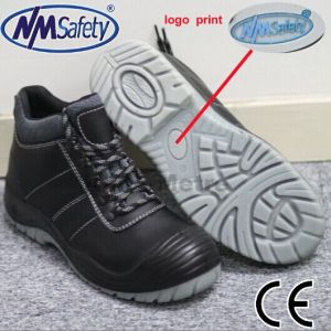 Nmsafety Cow Split Smooth Leather Clear PU Outsole Men Work Shoes pictures & photos
