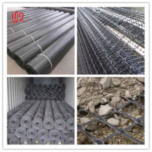 Plastic PP HDPE Pet Fiberglass Biaxial Uniaxial Triaxial Geogrid for Road pictures & photos