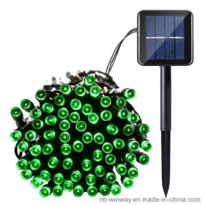 Solar Powered 100 LED Outdoor Christmas String Light Green Color pictures & photos