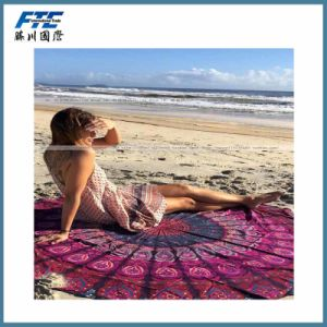 China Supplier Cheap Round Beach Towel pictures & photos