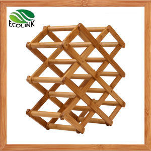Natural Bamboo Wine Bottle Display Rack pictures & photos