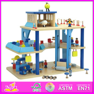 2014 New Cute Kids Wooden Kids Airport Toy, Popular Pretend Children Toy Wooden Toy, Hot Sale Role Play Wooden Baby Children Toy W06A040 pictures & photos