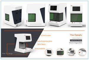 IC Chips 50W Fiber Laser Marking Machine for Sale pictures & photos