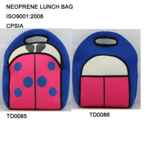 Insulated Kids Neoprene Lunch Cooler Bag with Insect Print pictures & photos