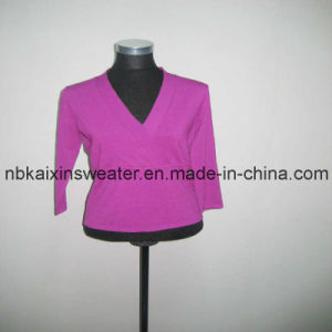 Women V-Neck Sexy Pullover Sweater (KX-W30)