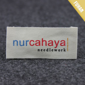 Custom Soft Material Print Cotton Pillow Label pictures & photos