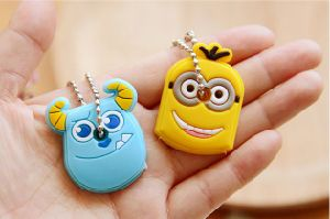 Fashionable Cartoon Silicone Rubber Key Chains/Keyring pictures & photos