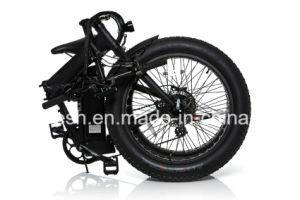 250W/500W 24in X4 Folding/Foldable Fat Tyre/Fat Tire Electric Bicycle/Pedelec/E Bike/E Fatty Bike/Electric Beach Bike/E Sand Bike/E Snow Bike with Ce. pictures & photos