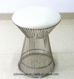 Wire The Low Stool The Nordic Plastic Stool Round Wire Soft Bag Stool Metal Chair (M-X3626) pictures & photos