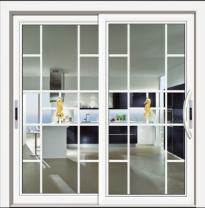Double Glass Design Aluminium Alloy Profile 6063-T5 Sliding Door pictures & photos