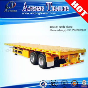 Competitive 2/3 Axles Flatbed Container Semi Trailer Truck Trailer pictures & photos