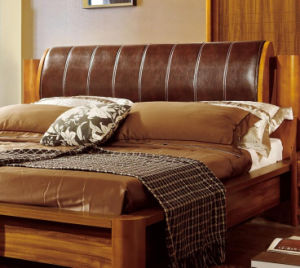 Solid Wooden Bed Modern Beds (M-X2230) pictures & photos
