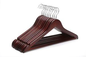 Black Bar Wood Hanger Cheap Clothes Regular Hanger pictures & photos