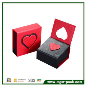 Custom Cardboard Red Paper Jewelry Box pictures & photos