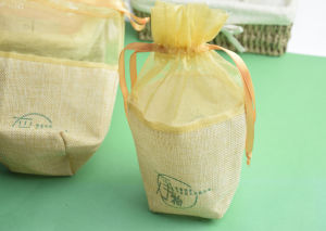 Custom Printed Organza Mix Jute Favor Pouch pictures & photos