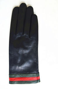 Lady Fashion Leather Gloves (JYG-24082) pictures & photos
