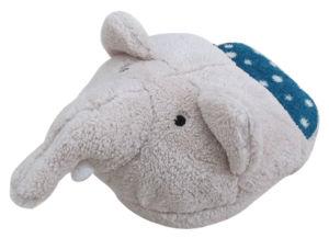 Grey Elephant Shape Feet Warmer Cushion