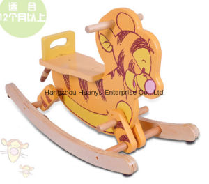 High Quality Wooden Rocking Animal-Wooden Tiger Rocker pictures & photos