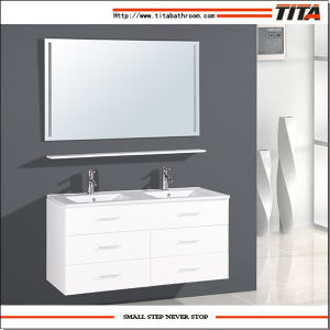 Luxury Double Sinks Bathroom Furniture T9126 pictures & photos