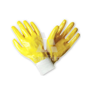 China Wholesale Nitrile Coating Interlock Gloves pictures & photos
