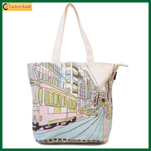 Silk Screen Printing Natural Cotton Tote Bags (TP-TB063) pictures & photos