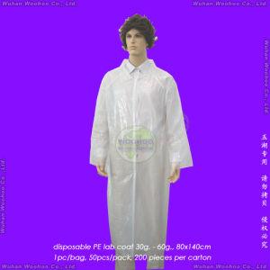 Disposable PE Laboratory Coat, Disposable PE Lab Coat pictures & photos