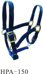 Adjustable Nylon Webbing Horse Bridle with Brass Fittings (HPA-150) pictures & photos