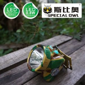 0.8W 1W LED Headlamp, 1PC* Li-Poly Battery Camping Outdoor Coal Miner Lamp Mining Headlamp Floating Light, Fishing Light pictures & photos
