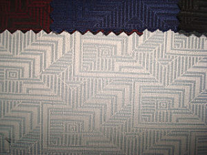 Wool Polyester Blenched Jacquard Check Fabric pictures & photos