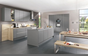 Grey Color Lacquer Finish High Gloss Anti-Scratch Kitchen Cabinets pictures & photos