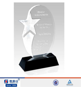 Clear Acrylic Blank Trophy pictures & photos