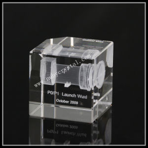 Crystal Engraved with Machine Images for Promotion Gift pictures & photos