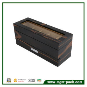 Fancy Black Wooden Watch Box with 5 Slots pictures & photos