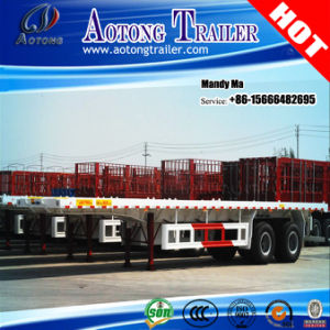 on Sale 40FT Container Flatbed Semi Trailer pictures & photos
