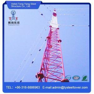 Wire Support Guyed Tower Microwave Antenna Radio Tower pictures & photos