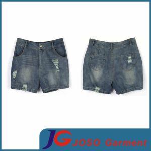 Women Denim Distressed Short Shorts (JC6039) pictures & photos