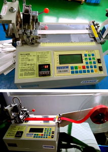 Auto Hot Knife Polyester Tube Cutting Machine pictures & photos