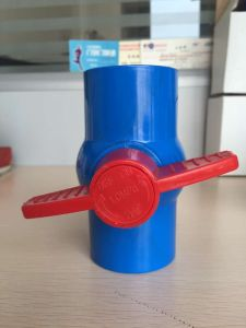 "1/2"", 3/4"", 1"", 1-1/4"", 1-1/2"", 2"" Irrigation Plastic UPVC Ball Valve pictures & photos"