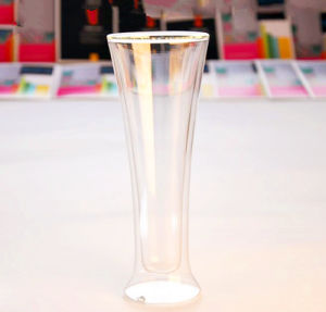 12oz Double Wall Glass Beer Cup pictures & photos