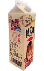 958ml Peach Juice Carton with Caps/ Gable Top Carton pictures & photos