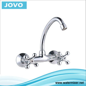 Sanitary Ware New Model Double Single Handle Wall-Mounted Kitchen Mixer Jv74006 pictures & photos
