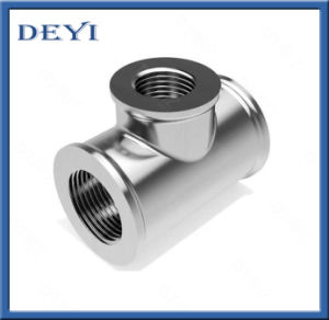 "2.5"" Sanitary Stainless Steel Female Thread Equal Tee pictures & photos"