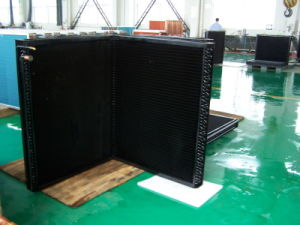 9.52mm Riffled Copper Tube Louvered Fin CO2 Commercial Heat Pump Heat Exchanger pictures & photos