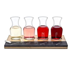 Rustic Farmhouse Acacia Wine Flight Board by Twine - (Wooden Wine Tasting Board) pictures & photos