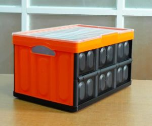 High Quality Solid Collapsible Plastic Storage Box pictures & photos