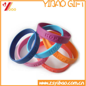 Hot Selling Custom Logo Silicone Wristband (YB-SM-37) pictures & photos