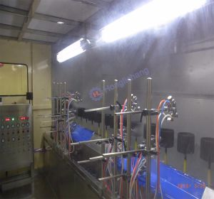 Dustfree Conveyorised Automatic UV Spray Painting Line pictures & photos