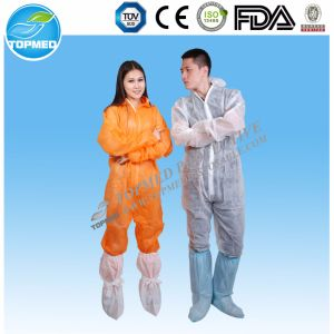 Hot! Disposable Waterproof Safety PP Nonwoven Coverall pictures & photos